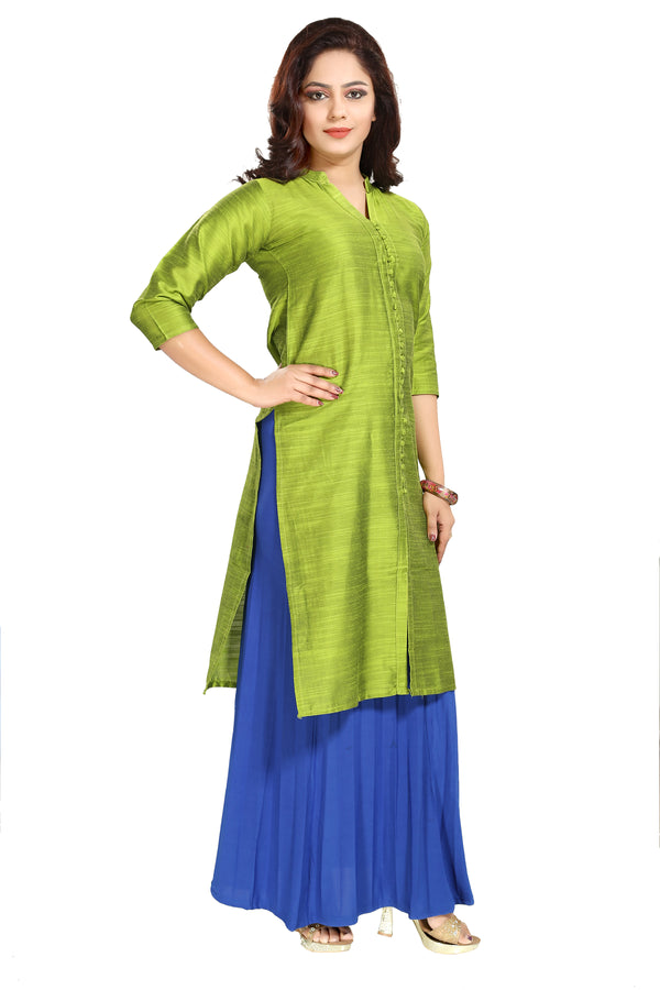 Stitched Designer Kurti for Women Color Green Size 34 | 36 | 38 | 40 | 42 | 44 | 46 | 48 | 50 | 52 | 54 | 56 | 58 | 60