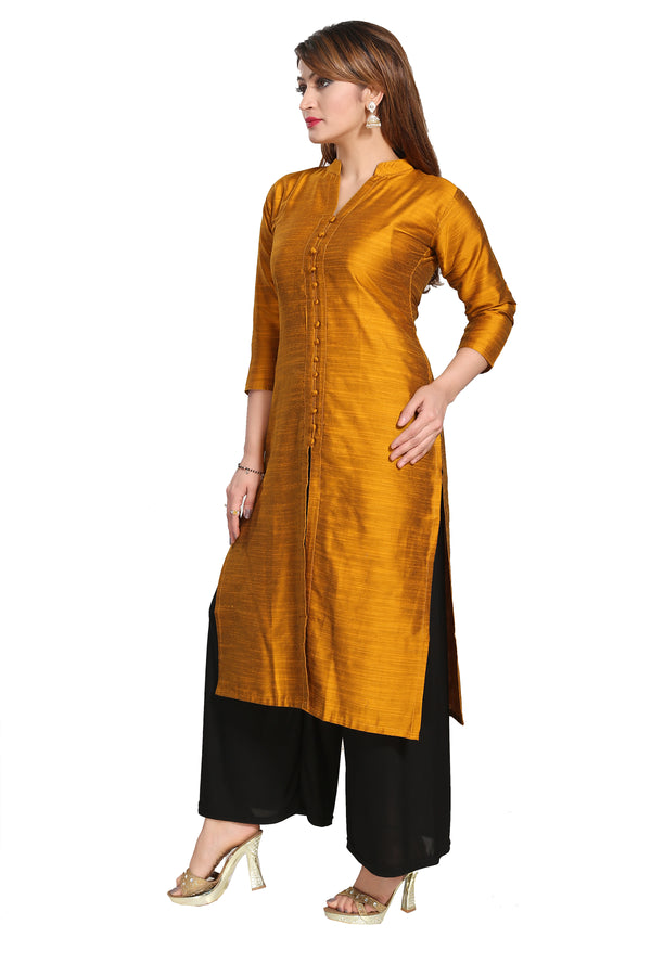 Stitched Designer Kurti for Women Color Gold Size 34 | 36 | 38 | 40 | 42 | 44 | 46 | 48 | 50 | 52 | 54 | 56 | 58 | 60