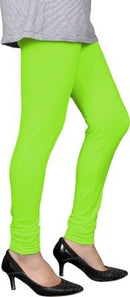 BK Cotton Lycra Leggings BK00021MCLSQ Dark - light | Green | Yellow | Purple | Parrot | Blue | Brown | Orange | Pink | Black | Navy Blue Size 30 to 40
