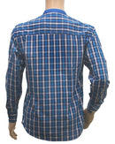 Blue Checked Men Shirt