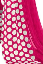 Georgette Digital Saree With Blouse-Dark Pink