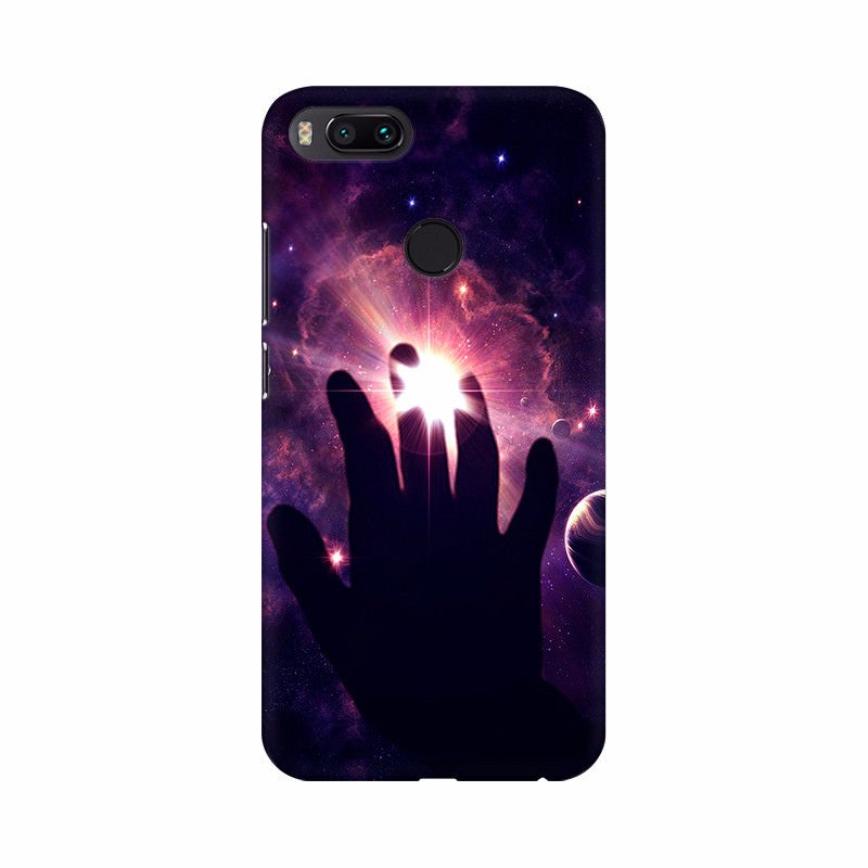 Right Hand in space Mobile case cover