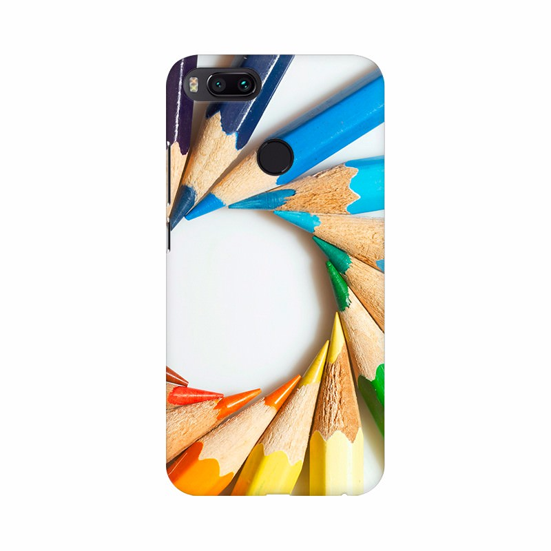 Colorful pencil with round shape Mobile Case Cover
