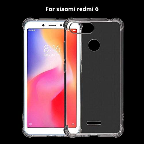 Flexible Shockproof TPU for Xiaomi Redmi Mi 6 Back Case Cover | Ultimate Edge Protection | Cushioned Edges Design - Transparent - AHLG004100010SBSR6C