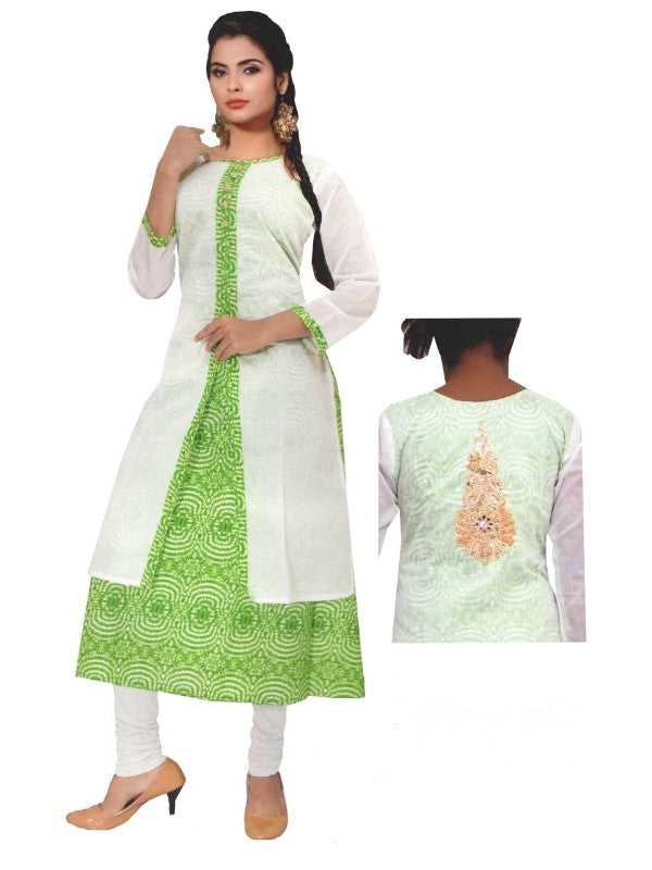 Printed Double Layered Long Kurti