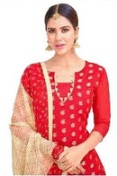 Red Salwar Material