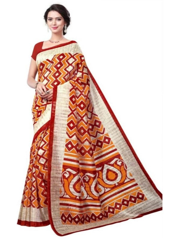 Bhagalpuri Art Silk Printed Saree