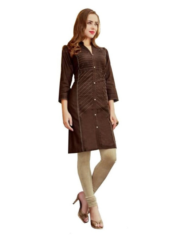 Straight Kurti With Button Placket