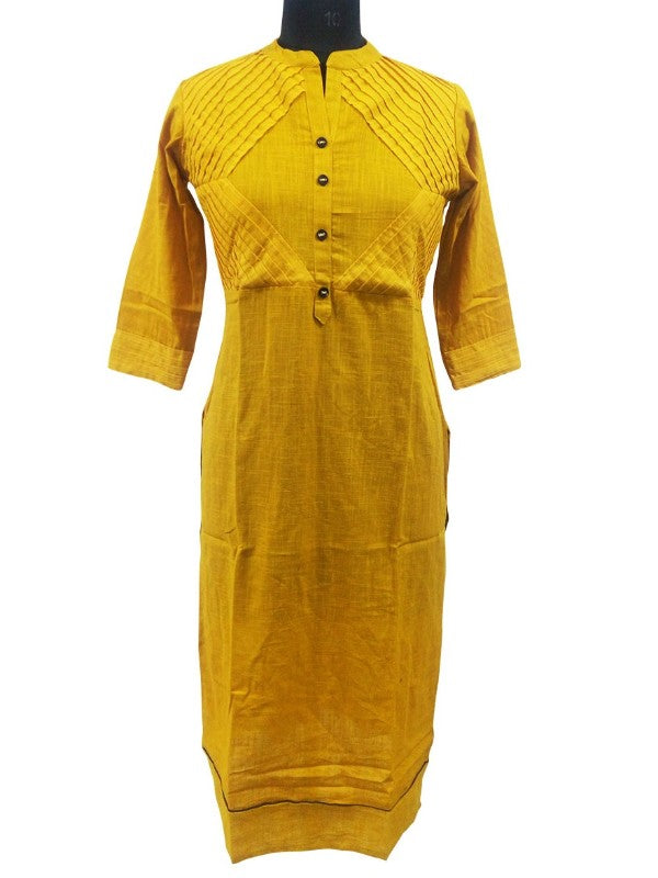 Long Pintuck Kurti Witu Cotton Slub