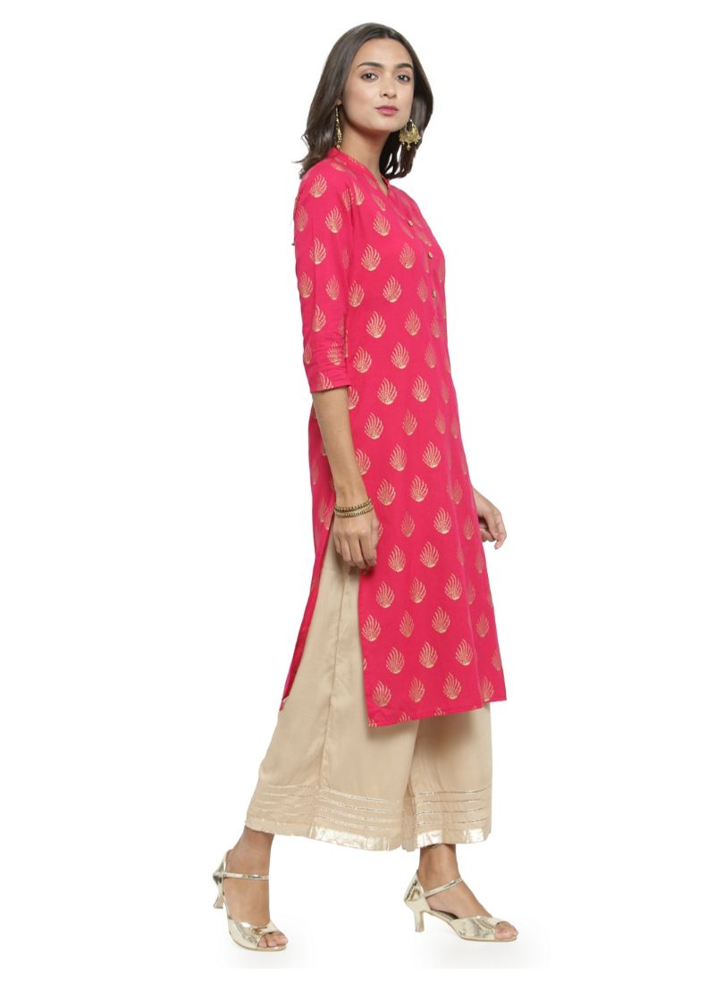 Pink Color Cambric Kurti