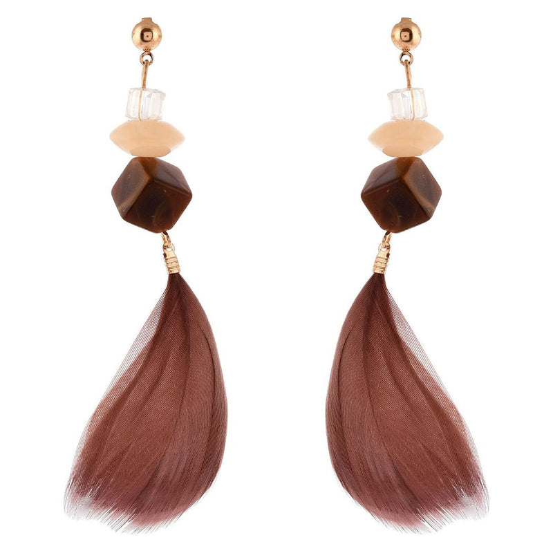 Generic Women's Brass Earrings (Brown, free Size)
