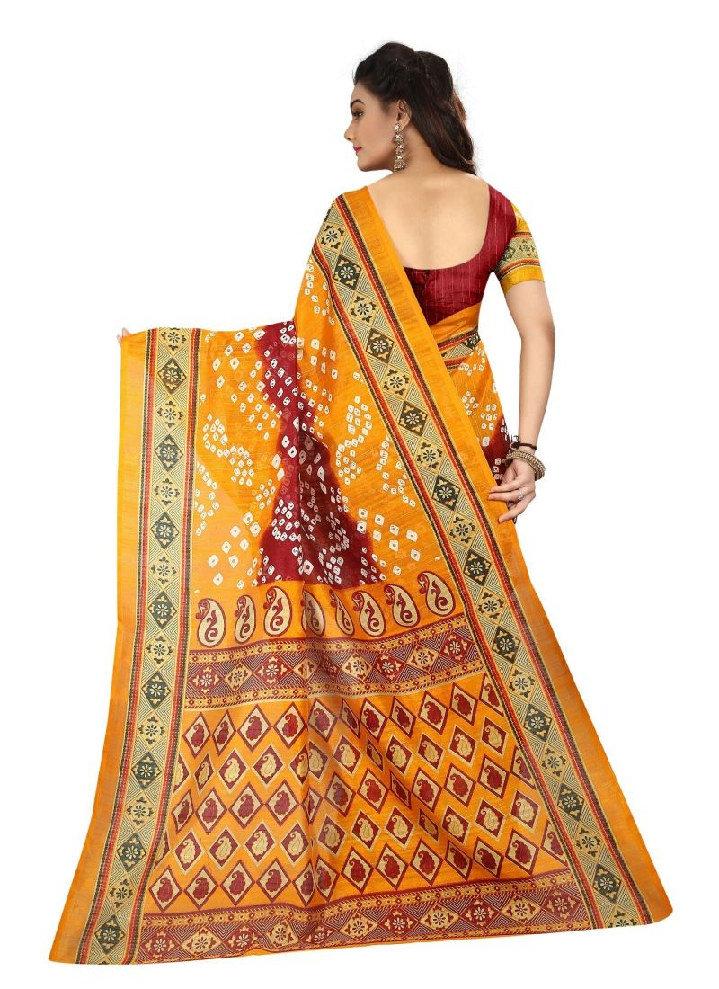 Generic Women's Silk Saree(Multi, 5.5-6mtrs)