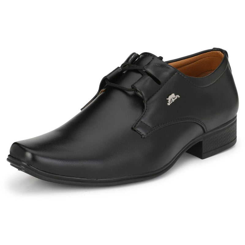Men's Black Color Nappa Leather Material  Casual Formal Shoes