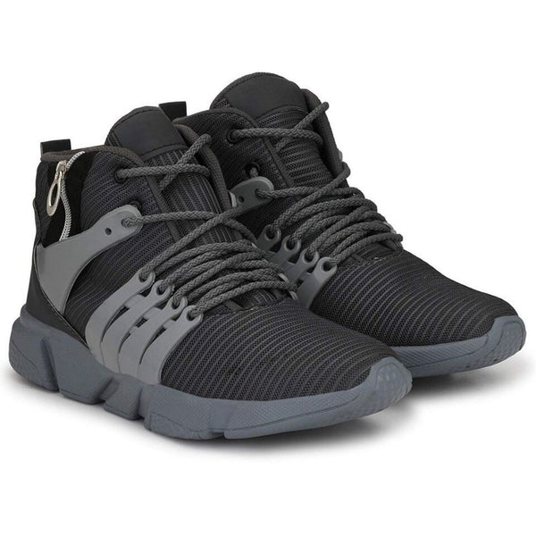 Men Grey,Black Color Mesh Material  Casual Sports Shoes