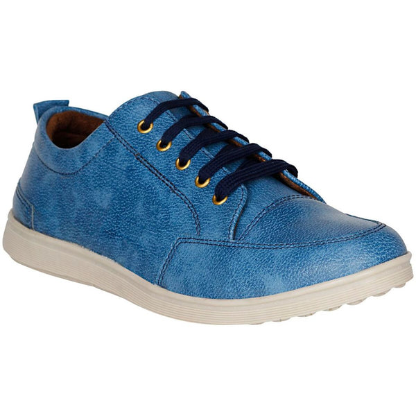 Men Blue Color Synthetic Leather Material  Casual Sneakers