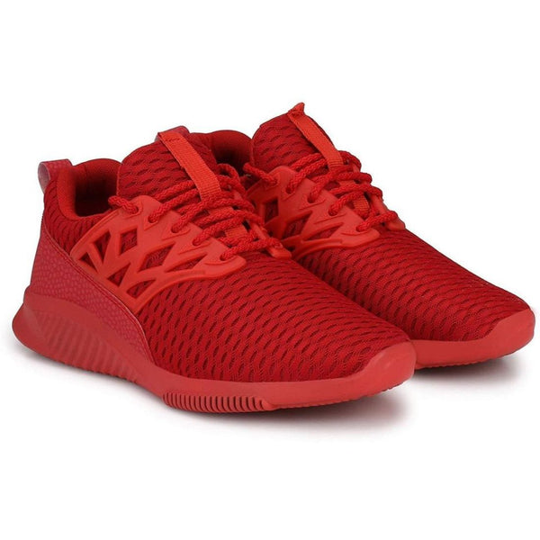 Men Red Color Mesh Material  Casual Sports Shoes