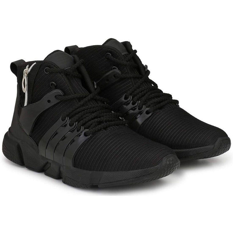 Men Black Color Mesh Material  Casual Sports Shoes