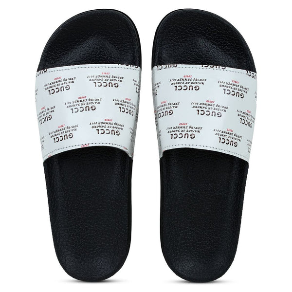 Women White Color Synthetic Material  Casual Sliders