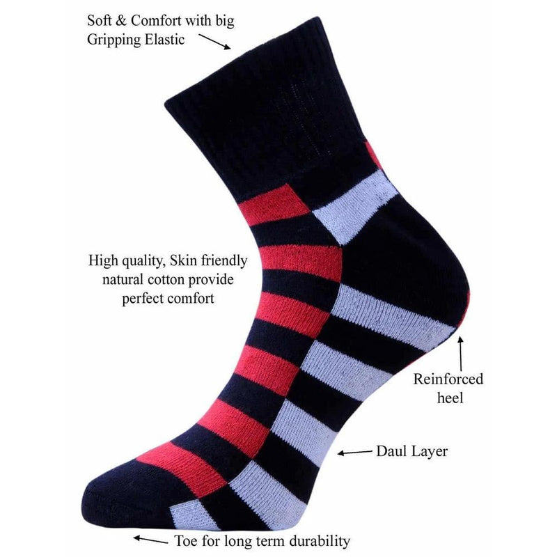 498 VaCalvers Men's Ankle Length Socks Combo (Multicolor)