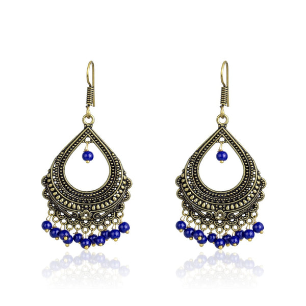 Fashion Jewellery Oxidized Gold-Plated Bali Stylish Fancy Party Wear Traditional Earring for Women & Girls