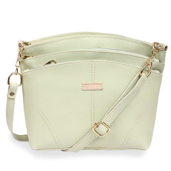 Women's Faux Synthetic Leather Satchel Bag (Sea Green)