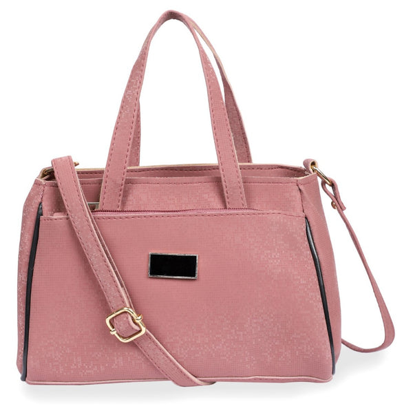 Women's Faux Synthetic Leather Satchel Bag (Onion)