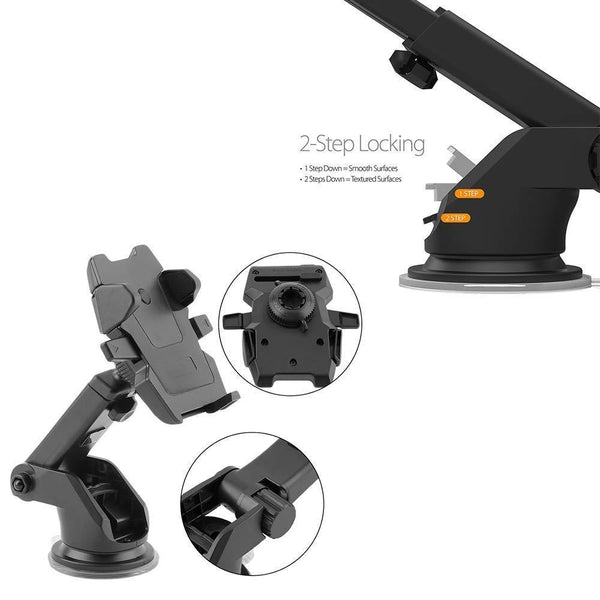 Adjustable Car Mount Universal Phone Holder with 360 Degrees Rotation for All Smartphones (Multicolour)