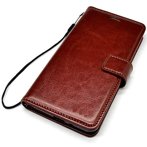 Vintage Flip Cover Leather Case for Realme X | Oppo K3 | Foldable Stand | Wallet Card Slots | Inner TPU - Executive Brown/Black - AHLV005600010BFRMXC