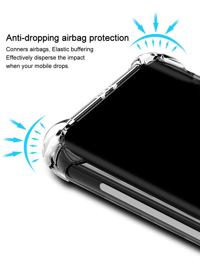 Bumper Protection Shockproof Clear Soft Back Case Cover for Xiaomi Mi Redmi 6A -Transparent - AHLG004100010SBSR6AC