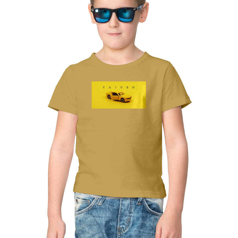 Customized boys T Shirt with boy's name printed with smart design