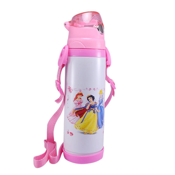 Girls Hot and Cold Kids water bottle for school | Pink | Vacuum | Stainless Steel | Student Baby Sipper flask bottle