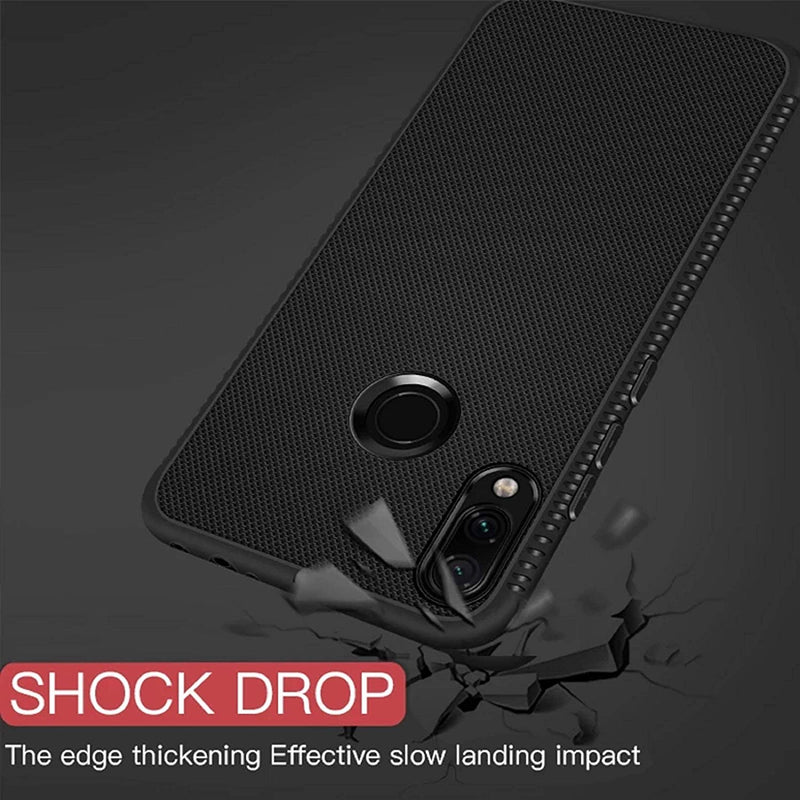 Realme 3i Carbon Fiber Flexible Shockproof TPU Rugged Denim Texture - AHLG001400010STCFOR3IC