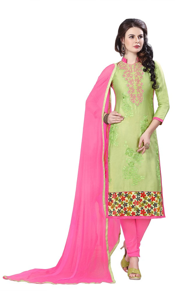 Women's Cotton Embroidered Party Wear salwar suit