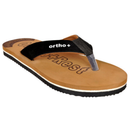 Men Slippers | House Slipper | Designer Slippers | Tan and Black Color Chappal