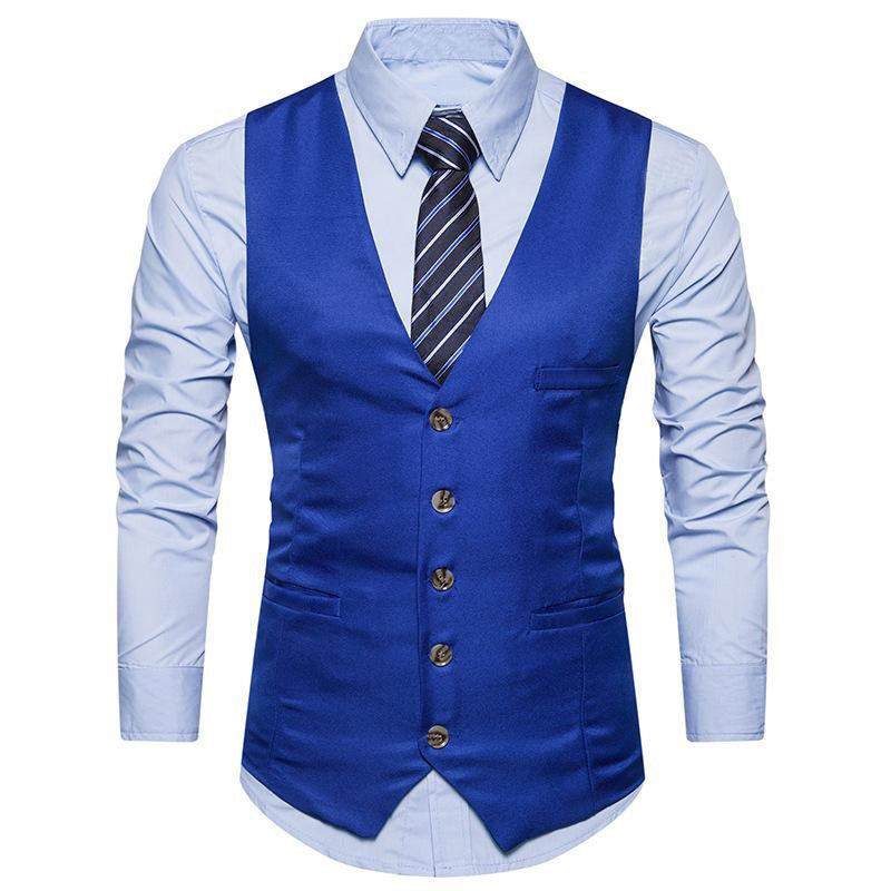 Blue Color Men's Party Wear waistcoat Ethnic Jacket