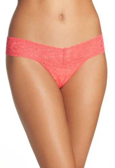 ♥ Full Floral Lace Thong Panty