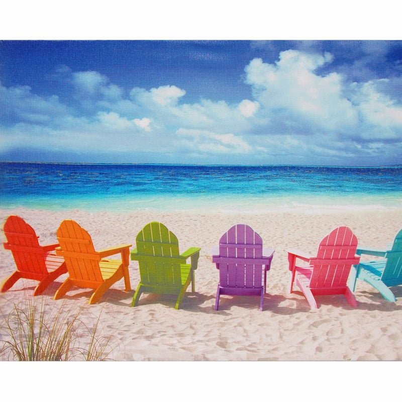 Empty Ocean and Colorful Chairs Mobile Case Cover