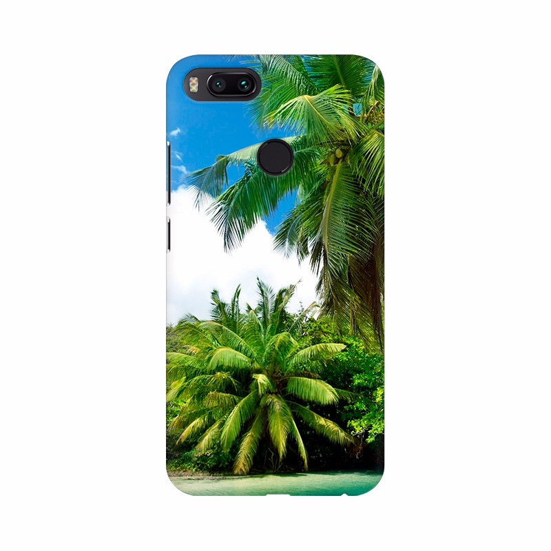 River with Beautiful Coconut Trees Mobile Case Cover