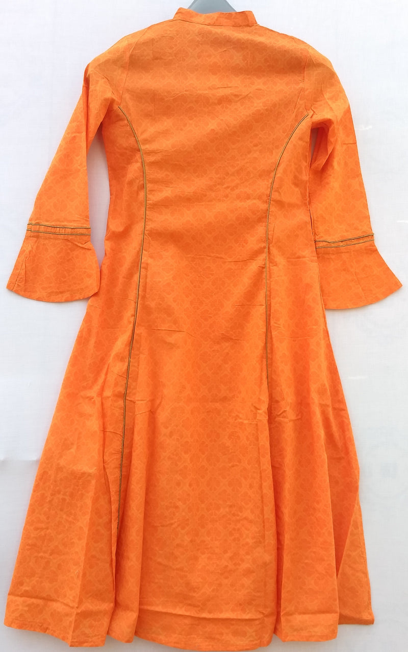 Long Sleeve Orange Kurti - RMFK000300003OGW
