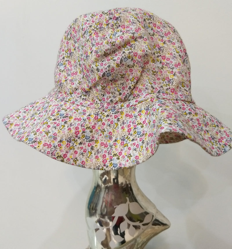 Girl's Cap with Floral Print - RMKC0040004KCP&B