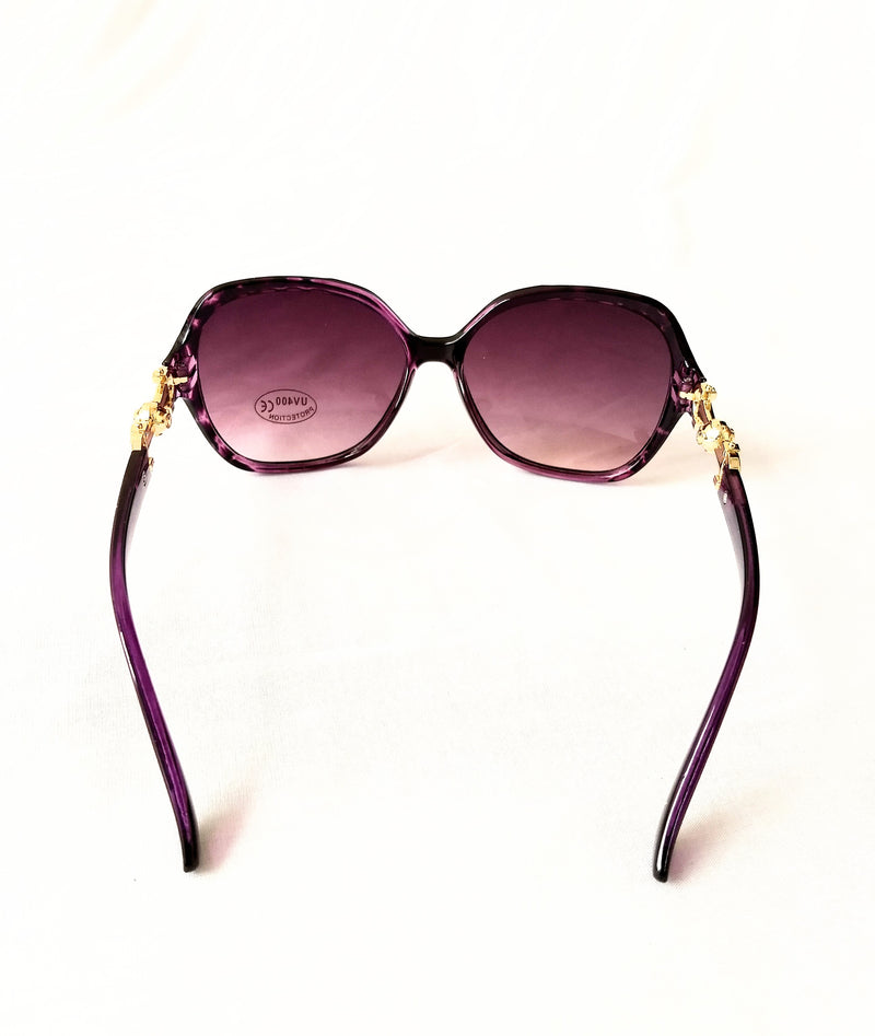 Black - Purple Sunglasses for Girls/Women - MOWS000007BBN4