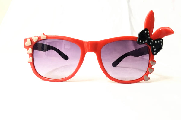 Red & Black Sunglasses for Girls 4 - 10Years - MOGS000054BN1