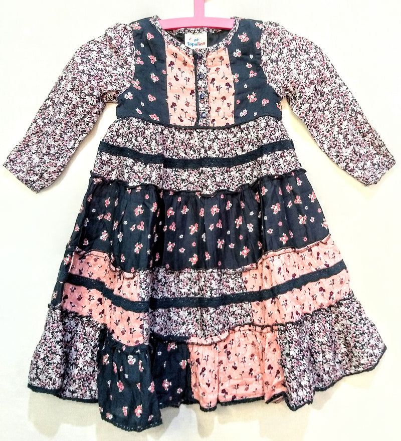 Multi-color Cotton Dress ( Age 4 to 6 Years ) - NT000001FROCK