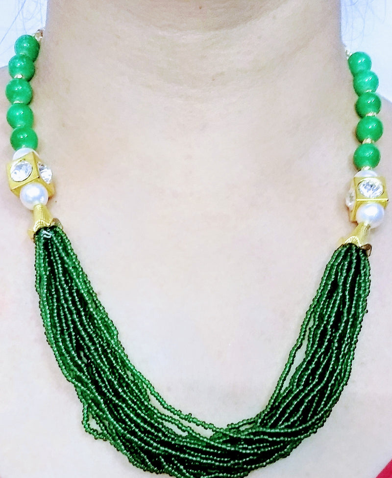 Green Multi-Layer Necklace