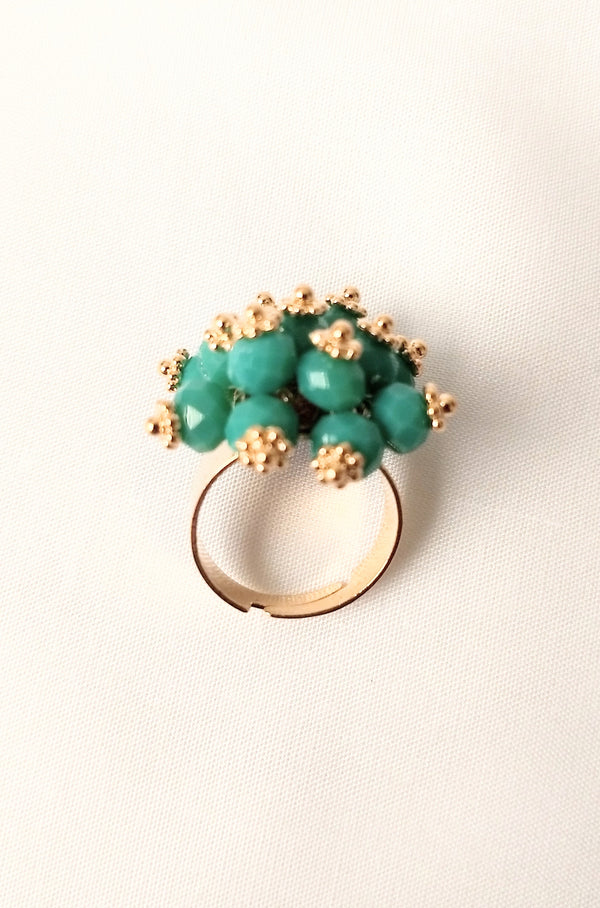 Amazing Party Wear Green Ring For Girls