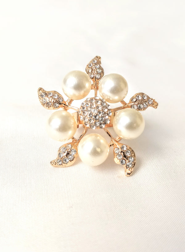 Large Size Amazing Flower Design Adjustable Ring