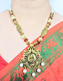 Lord Ganesha Red Beads Beautiful Necklace for Urban Women