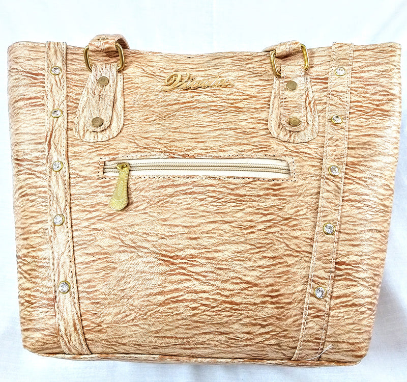 Light Brown Bag With Two Inside Partition