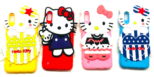 Girl's Back Cover Hello Kitty Silicon with Pendant for Samsung A10 - AHFK008300010FKSSA10C