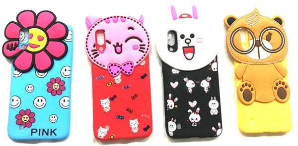 Girl's Back Cover Hello Kitty Silicon with Pendant for Samsung M10 - AHFK008300010FKSSM10C
